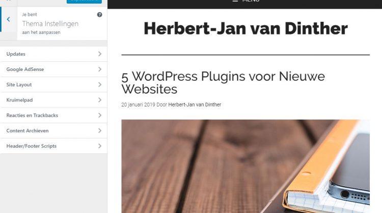 Genesis WordPress Thema voorkeur